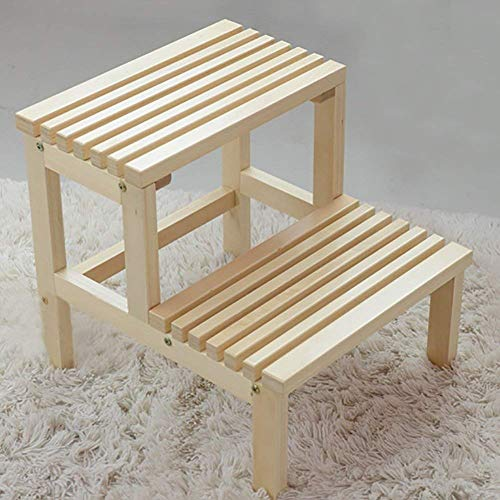 Lostgaming Schoenenkast met 2 lagen van massief hout, bloemenstandaard, badkuip-emmer, klimsteiger, hout, kleur 40 x 44 x 41 cm