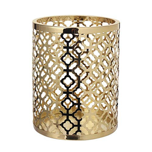 LAMZH Candle Holders Candle Holders Set Candlelight Dinner Wedding Romantic Candlesticks,Home Decorations For Home Decoration Wedding Dinning (Color : Brass, Size : Small)