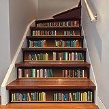 6 pegatinas 3D para escaleras, creativas autoadhesivas, para escaleras, pisos, azulejos de pared (estilo 2)