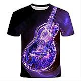 XSHUHANP Unisex Camiseta 3D con Estampado Ropa Técnica Tocadiscos DJ Música Audio Libros Impresión 3D Camisetas Mujeres Hombres Moda Verano Hip Hop tee XXXL