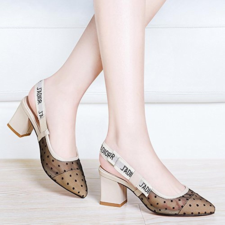 HUAIHAIZ Damen High Heels Pumps Das Garn Sandalen Buchse Buchse hochhackigen Schuhe Sandalen Abend Schuhe
