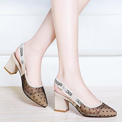 Tacones de damen El hilo sandalias hembra hembra de tacón