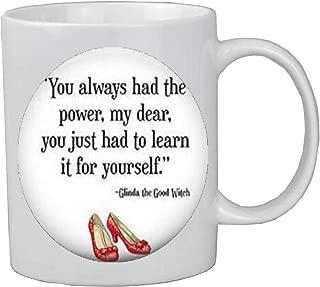 You Always Had the Power Coffee Mug,Quote Jewelry,charm Coffee Mug,Book Quote Glass Dome Coffee Mug Jewelry Mug-JP162
