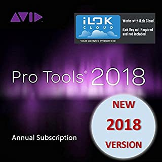 Avid Pro Tools 2018 Annual Subscription (Download Card Only - Activate with iLok Cloud)