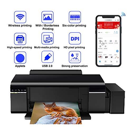Tanceqi multifunctionele printer 6 kleuren (WiFi, USB, kopiëren, scannen, dubbelzijdige print, 5760 × 1440 PPP) kleur zwart