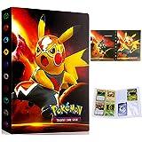 Album Pokemon, Álbum de Cartas Pokémon, Álbum Titular de Tarjetas Pokémon Carpeta Carpeta Libro 30 páginas 240 Tarjetas Capacidad (PIKAQIU Gran película)