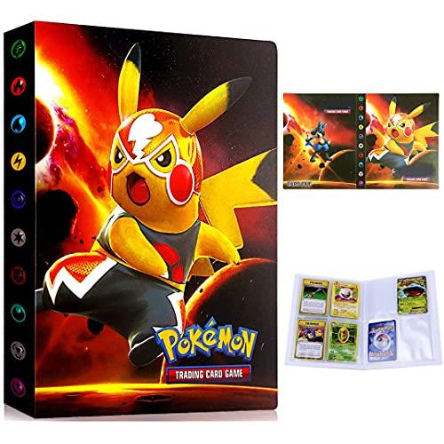 Porta carte Pokemon, Album Pokemon, Raccoglitore Carte Pokémon, Album Cartella Raccoglitore Libro 30 pagine 240 Capacità di carte (Ottimo film PIKAQIU)