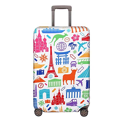 Best Bargain Vaskey Elastic Washable Luggage Protector Case Baggage Cover Suitcase Protective Cover ...