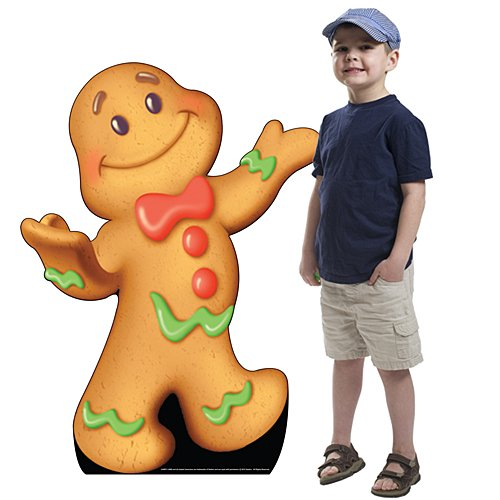3 ft. 10 in. Candy Land Gingerbread Man Standee Standup Photo Booth Prop Background Backdrop Party Decoration Decor Scene Setter Cardboard Cutout