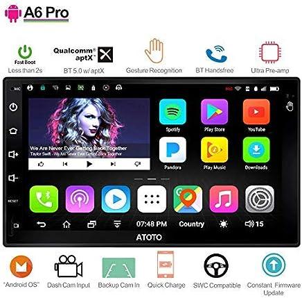 [NUOVO]ATOTO A6 2DIN Android Car Navigation Stereo- 2x Bluetooth e ricarica rapida per telefono - PRO A6Y2721PR-G Gesture Operation -Car Entertainment Multimedia Radio,WiFi,supporto 256G SD e altro