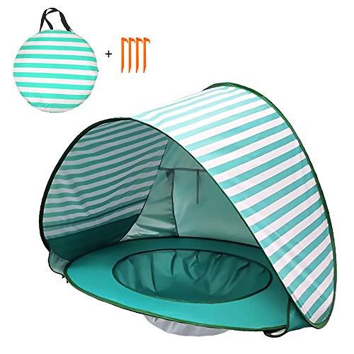 Walory Pop Up Baby Beach Tent - Refugio Solar Anti-UV A Prueba de Agua con Piscina para Niños Al Aire Libre Tienda de Toldos con Sombrilla