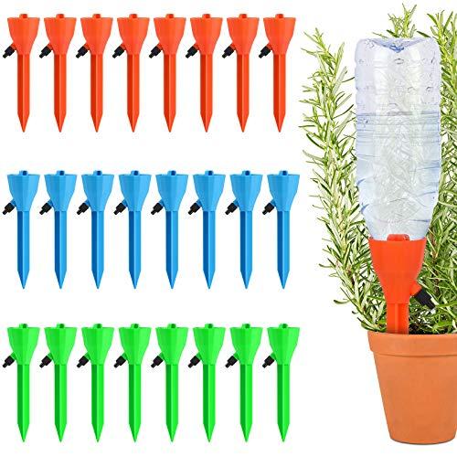 Riego por Goteo Automático Kit,24Piezas Riego por Ggoteo Sistema de Irrigación,Ideal Dispositivo de Irrigación Automático en Vacaciones para Bonsáis y Flores