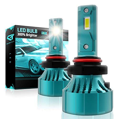 Glowteck 9005/HB3 LED Headlight Bulbs Conversion Kit - Low Beam/Fog Light 20,000 Lumen/Pair 6500K Cool White IP65 water-resistant Halogen Replacement Headlight bulbs For Bright & Greater Visibility