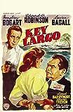 Pop Culture Graphics Key Largo Poster Movie Belgian 11 x 17 Inches - 28cm x 44cm Humphrey Bogart Lauren Bacall Claire Trevor Edward G. Robinson Lionel Barrymore Thomas Gomez Dan Seymour