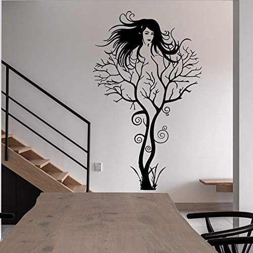 Hermoso árbol WomanWall vinilo adhesivo calcomanía estética hogar dormitorio decoración papel tapiz adhesivo de pared A3 42x68cm
