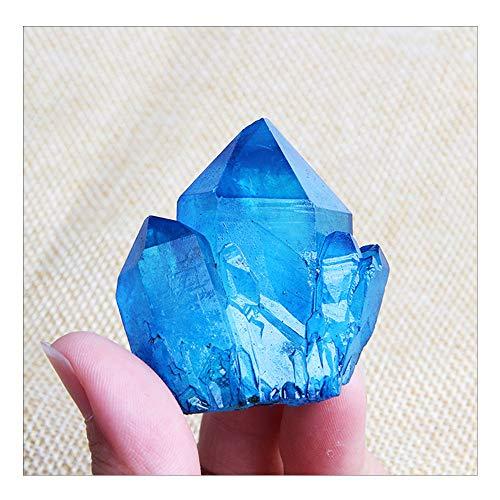 Wixine 1 x blauer Titan-Quarz, Cluster-Kristall, Edelstein.