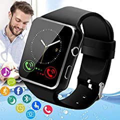 √ Multifunctional Smart Watch: Dial via watch SIM card or Bluetooth, Pedometer, Sedentary remind, Sleep monitoring, Message reminder (from the text, phone, and other app notifications), Camera controllers, Music players, and more. Once you use this B...