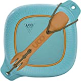UCO 4-Piece Camping Mess Kit with Bowl, Plate and 3-in-1 Spork Utensil Set, Classic Blue