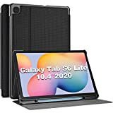 ProCase Funda para Samsung Galaxy Tab S6 Lite SM-P610 SM-P615 10.4' 2020, Smart Cover Carcasa Delgada Tipo Libro para 10.4 Pulgadas Galaxy Tab S6 Lite 2020 -Negro