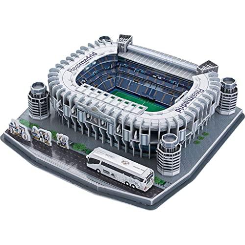 Estadio Santiago Bernabéu Puzle 3D modelo Real Madrid Club de Fútbol recuerdo del aficionado del estadio local