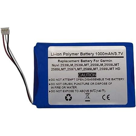 Rechargeable battery for Garmin Nuvi 2597 1200mAh Li-Ion