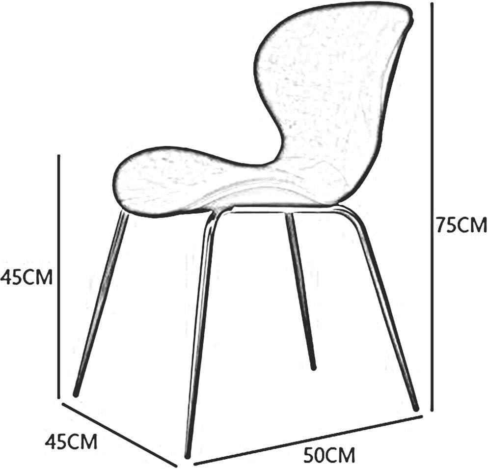 DALL Chaises De Salle À Manger Chaise De Dossier Moderne Rembourrés Chaise De Maquillage Jambes en Métal Doré Chambre Facile À Assembler (Color : Black) Gray