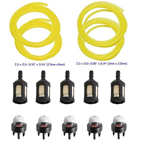 Air Carburant Ligne Filtre Primer ampoule bougie coupe Poulan Craftsman gaz tronçonneuses
