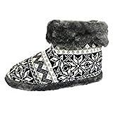 Dunlop Boot - Zapatillas de estar por casa de Tela para hombre, color negro, talla 45/46