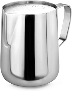 New Star Foodservice 28805 Commercial Grade Stainless Steel 18/8 Frothing Pitcher, 12-Ounce