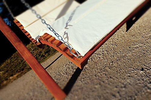 Design Hollywoodschaukel Gartenschaukel Hollywoodliege Doppelliege aus Holz Lärche mit Dach Modell: 'ARUBA' von AS-S - 4