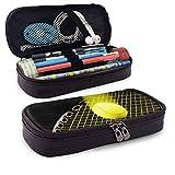 Étui à crayons/stylo en cuir sac cosmétique raquette de tennis grande capacité titulaire pochette papeterie organisateur pour école/bureau