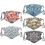 AOGOTO 5-teilige doppelschichtige Schutzhandtücher für Mädchen, staubdicht, Winddicht, Sonnenschutzmittel und Partikel