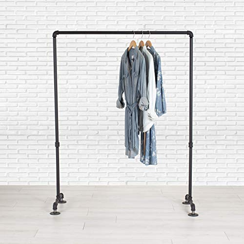 Industrial Pipe Clothing Garment Rack by William Robert's Vintage