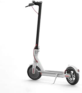 JIAOHJ Portable Electric Scooter, Simple Geometric Design 30 Km Long Mileage, Double Brake System and LED Headlights, Humanized Throttle Design