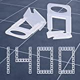 Tanzfrosch 1400 PCS Tile Leveling System Clips 1/16''(1.5mm) Tiles Leveler Spacers Tool for Professional Ceramic Tile and Stone Installation