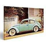 Bild Bilder auf Leinwand VW Käfer Vintage Beetle Wandbild,