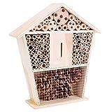 AMONIDA Bienenhaus, ermutigen nützliche Insekten Langlebige kleine Garteninsekten beobachten Nest, Insekten und Bienen Haushaltsdekoration für Gartenzubehör Biene