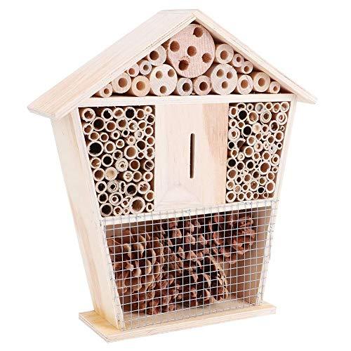 Deror Insektenhaus, Gartenarbeit Kleines Bienenhaus aus Holz, Insektenschutz für den Garten mit Haushaltsdekoration