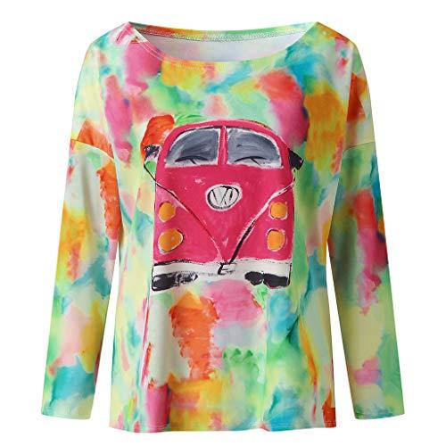TEFIIR Sweatshirt für Damen, Halloween Bedrucktes Lässiges T-Shirt mit Rundhalsausschnitt Lose Größe Tops Geeignet für Freizeit, Dating und Urlaub