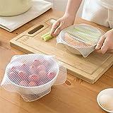 Creatividad Las tapas de silicona estiramiento de 3 piezas o 4pcs / set Alimentación cubierta del ahorrador del sello Wrap reutilizable de silicona tapa de alimentos frescos Mantener herramienta de la