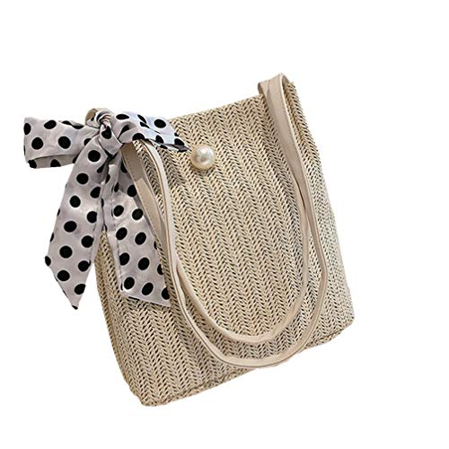 Fenical Sommer Strand Stroh Weben Tasche handgemachte Umhängetasche geflochtene Einkaufstasche