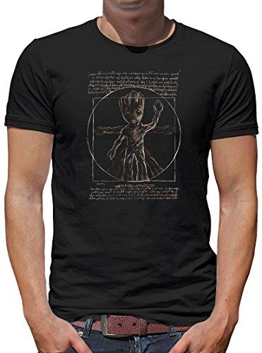 TShirt-People Da Groot T-Shirt Herren L Schwarz