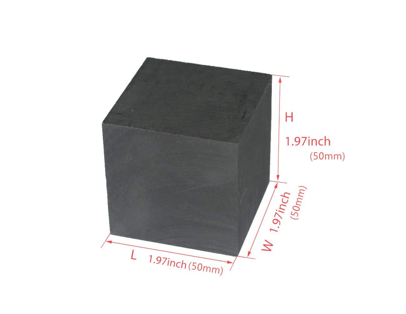 SZQL 99.9/% Purity Graphite Ingot Block EDM Graphite Plate Milling Surface Graphite Round,50x5mm