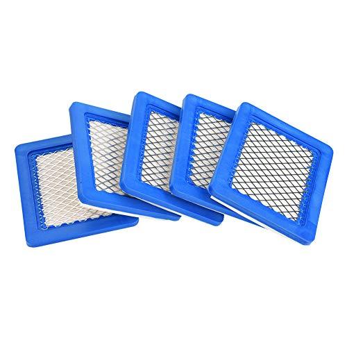 5er Pack Rasenmäher Luftfilter Luftfilter Ersatz für Briggs & Stratton 491588 491588S 399959, John Deere PT15853 - Luftfilter für Rasenmäher mit Briggs & Statton Quantum Motor