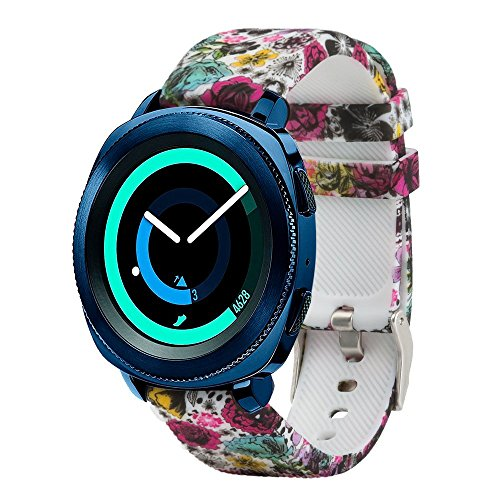 20mm Band Compatible Samsung Gear Sport/Samsung Galaxy Watch 42mm/Samsung Galaxy Watch Active/Active2(40mm)/for Garmin VivoActive 3/ Ticwatch 2/Amazfit Bip Quick Release Watch Soft Silicone Band