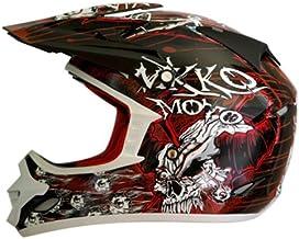 Nikko N-719 Motocrosshelm Größe XL, schwarz/rot