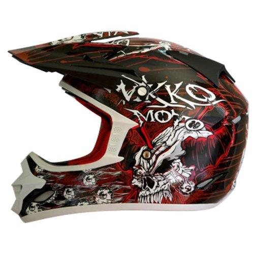Nikko N-719 - Casco da Motocross, Taglia XXL, Colore: Nero/Rosso