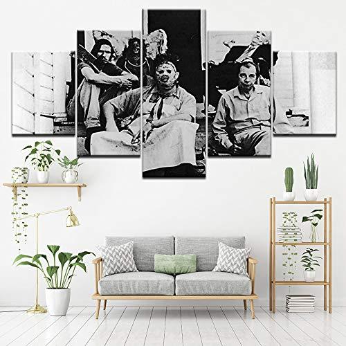 Kettingzaag van linnen, 5-delig, schilderen, muurkunst, behang, modulaire druk, posters, woonkamer, thuisdecoratie L-30x40 30x60 30x80cm Frame