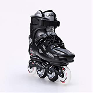 ZLSANVD Roller Skates Inline Speed Skates Flat BreathableWomen Men Fancy 4 Wheel Roller Skates Shoes Shoes Size 41