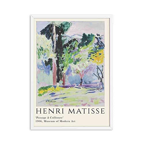 Henri Matisse carteles e impresiones retro paisaje abstracto arte de la pared retro hogar sin marco lienzo decorativo pintura E 40x60cm